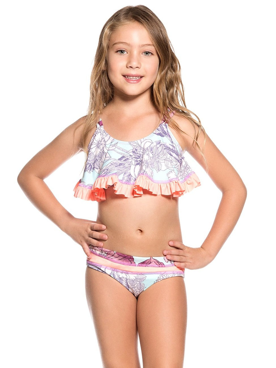 Maaji Swimwear Blue Bolera Girls Bikini Kids - shaymartian