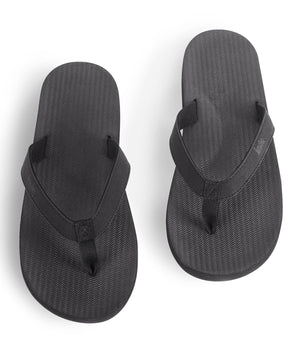 Indosole Men's ESSNTLS Flipflops Black - shaymartian