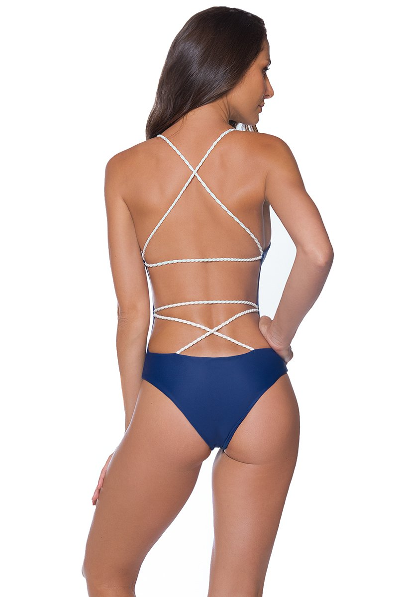 AYRA SWIM PANAMA ONE PIECE BLUE - shaymartian