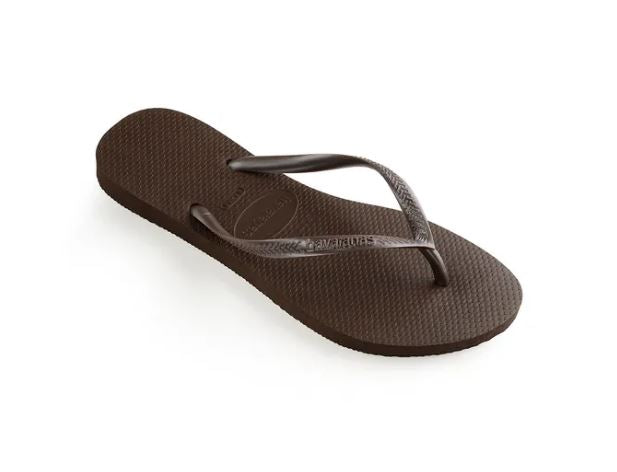 Havaianas Womens Slim Dark Brown - shaymartian