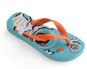 Havaianas Kids Radical Blue/Orange - shaymartian