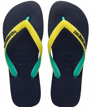 Havaianas Unisex Top Mix Navy/Neon Yellow - shaymartian