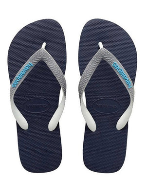 Havaianas Top Mix Navy Blue Steel Gray Flip Flops - shaymartian