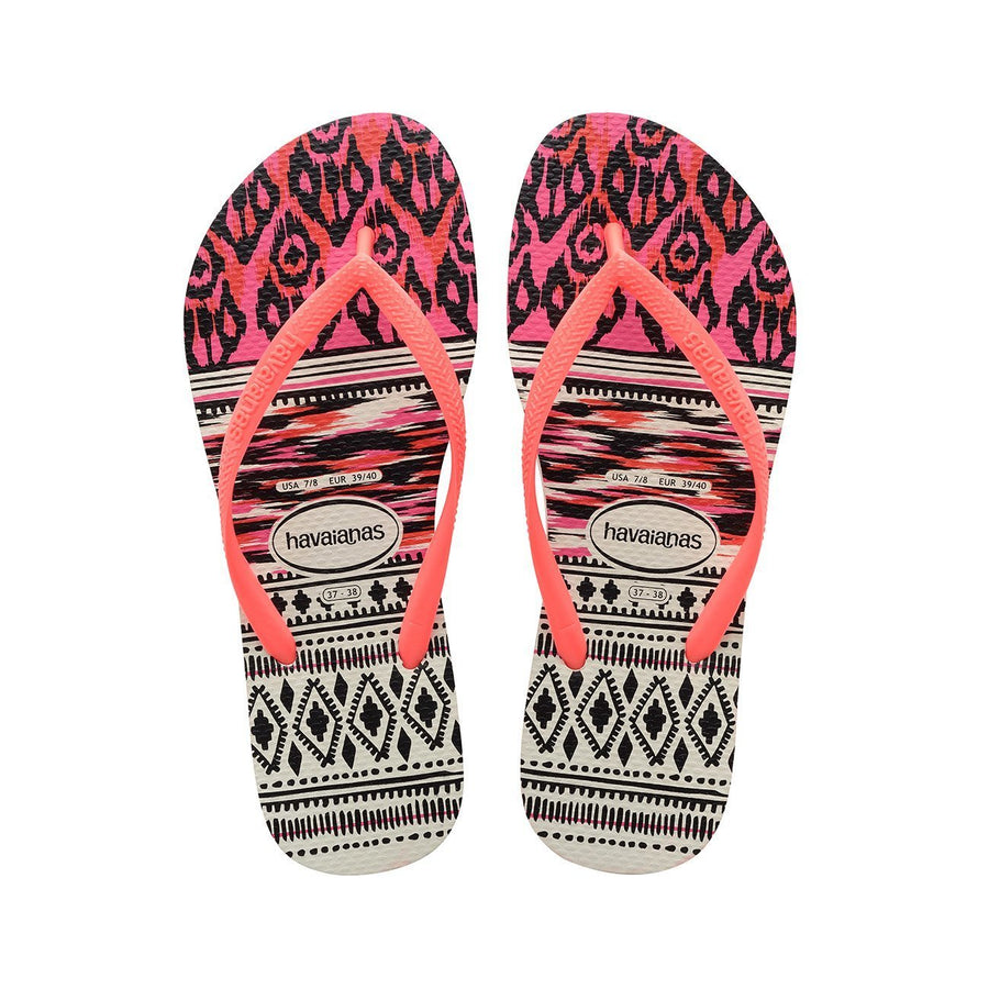 Havaianas Slipper Tribal - White / Coral - shaymartian
