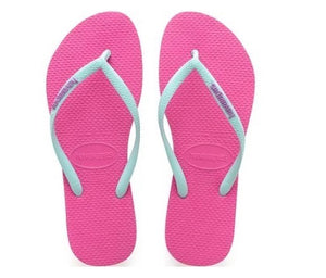 Havaianas Kids Slim Logo Rose Blue - shaymartian