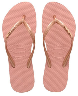 Havaianas Womens Sim Logo Metallic Rose Gold - shaymartian