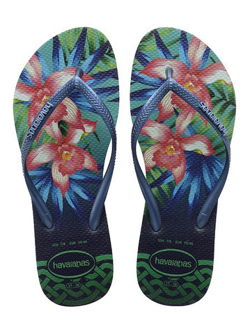 Havaianas Slim Tropical Mint Green Flip Flops