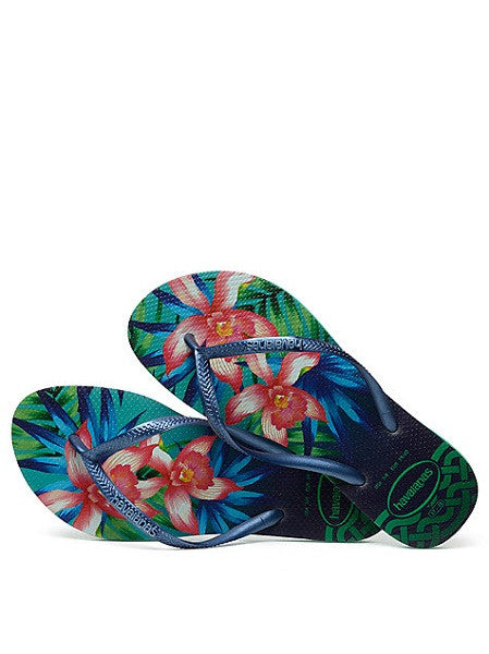 Havaianas Slim Tropical Mint Green Flip Flops - shaymartian