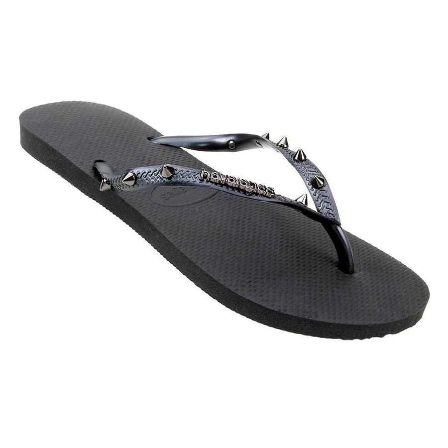 Havaianas Womens Slim Hardware Black Silver - shaymartian