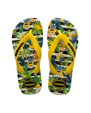 Havaianas Kids Minions White/Citric Yellow - shaymartian