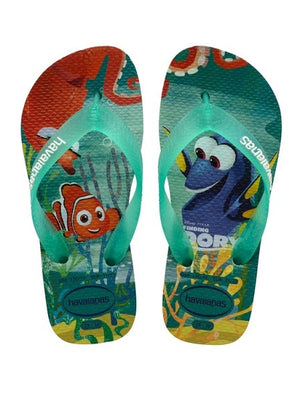 Havaianas Kids Nemo and Dory Ice Blue Flip Flops - shaymartian