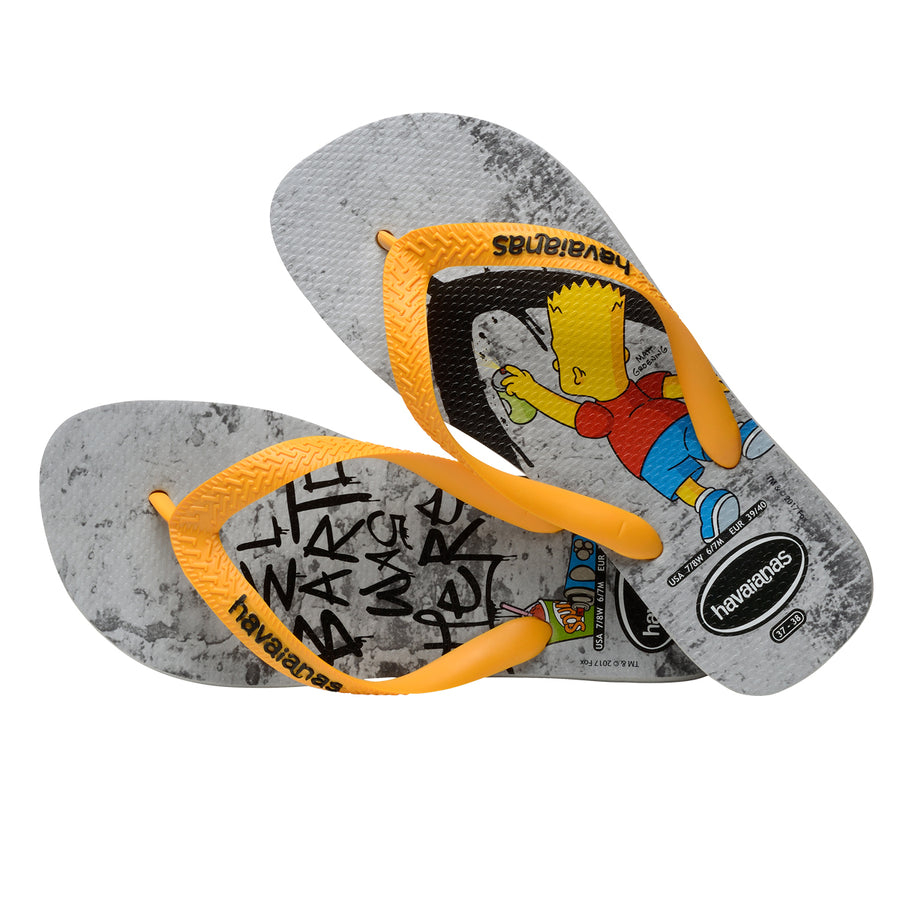 Havaianas Slipper Simpsons - Grey / Yellow - shaymartian
