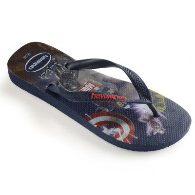 Havaianas Top Mens Marvel Navy Blue - shaymartian