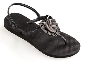 Havaianas Womens Freedom Metal Pin Black - shaymartian