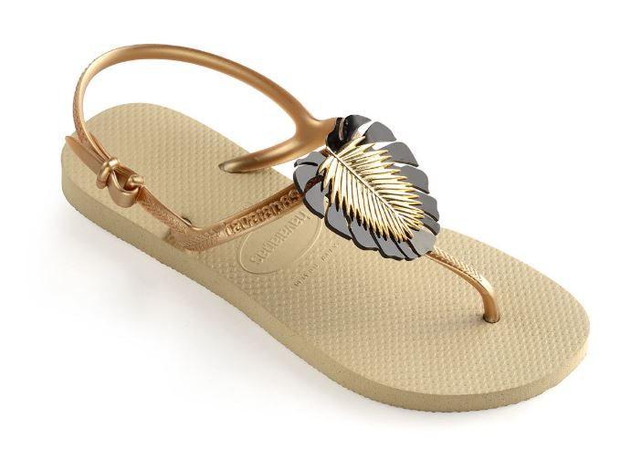 Havaianas Womens Freedom Metal Pin Sand Grey - shaymartian