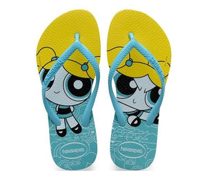 Havaianas Kids Slim Powerpuff Girl Blue - shaymartian