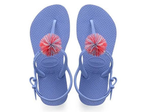 Havaianas Kids Freedom Pompoms Blue - shaymartian