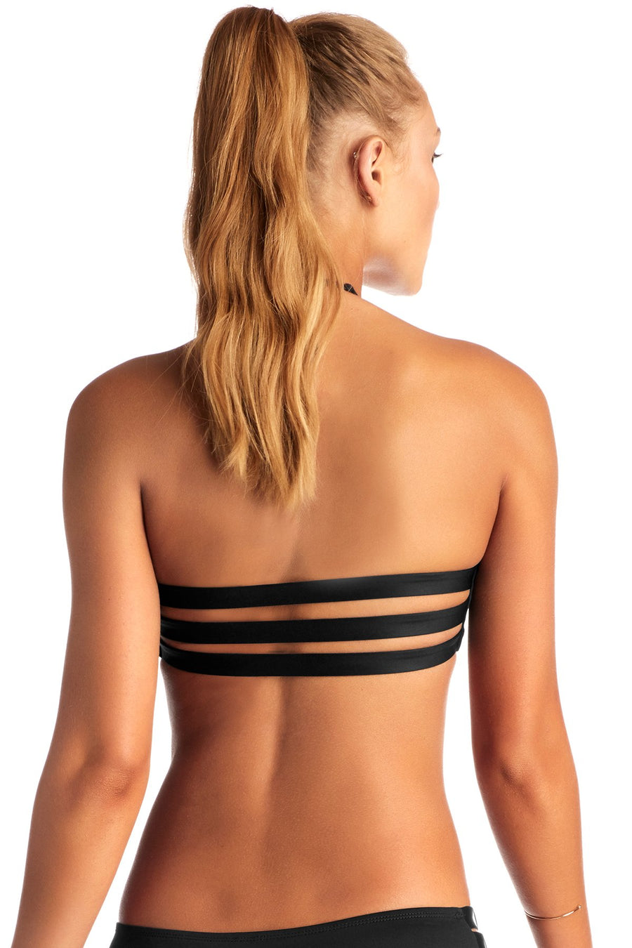 Vitamin A Black Camila Cross Neck Top