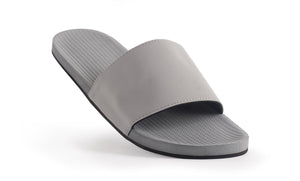 Indosole Men's ESSNTLS Slide Granite - shaymartian