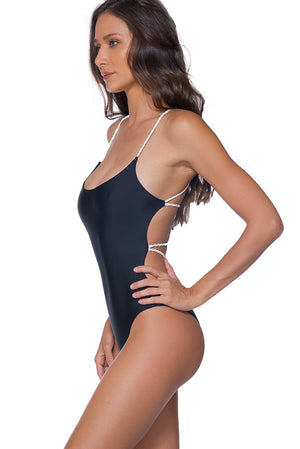 Cheeky Panama One Piece Black - shaymartian
