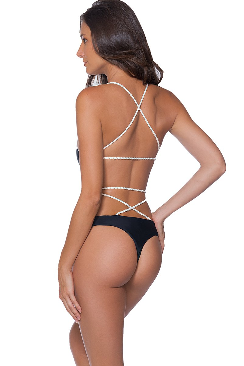 AYRA SWIM CHEEKY PANAMA ONE PIECE BLACK - shaymartian