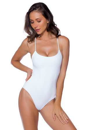 AYRA SWIM PANAMA ONE PIECE WHITE - shaymartian