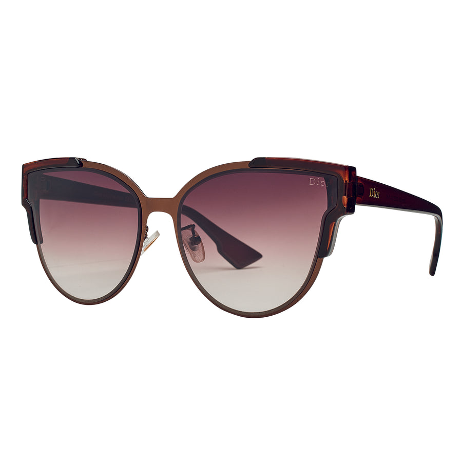 Bay Sky Womens Metal Frame with Plastic Arms Sunglasses - shaymartian