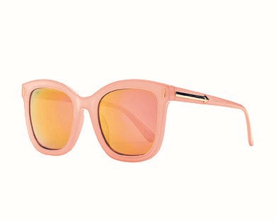 Bay Sky Womens Plastic Square Rose Gold Mirror Lense Sunglasses - shaymartian