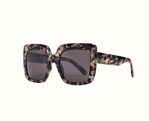 Bay Sky Womens Plastic Square Grey Tortoise Sunglasses - shaymartian