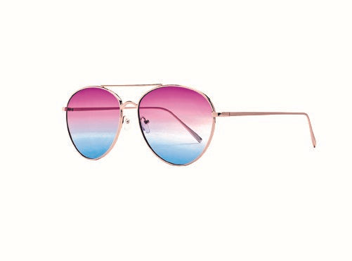 Bay Sky Womens Metal Frame Aviators with Multi Color Tint Sunglasses - shaymartian