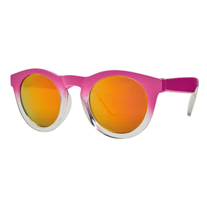 Bay Sky Kids Round Ombre with Orange Mirrored Lenses Sunglasses - shaymartian