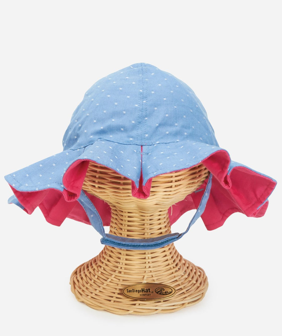San Diego Infant Girl Reversible Bucket with Chin Strap