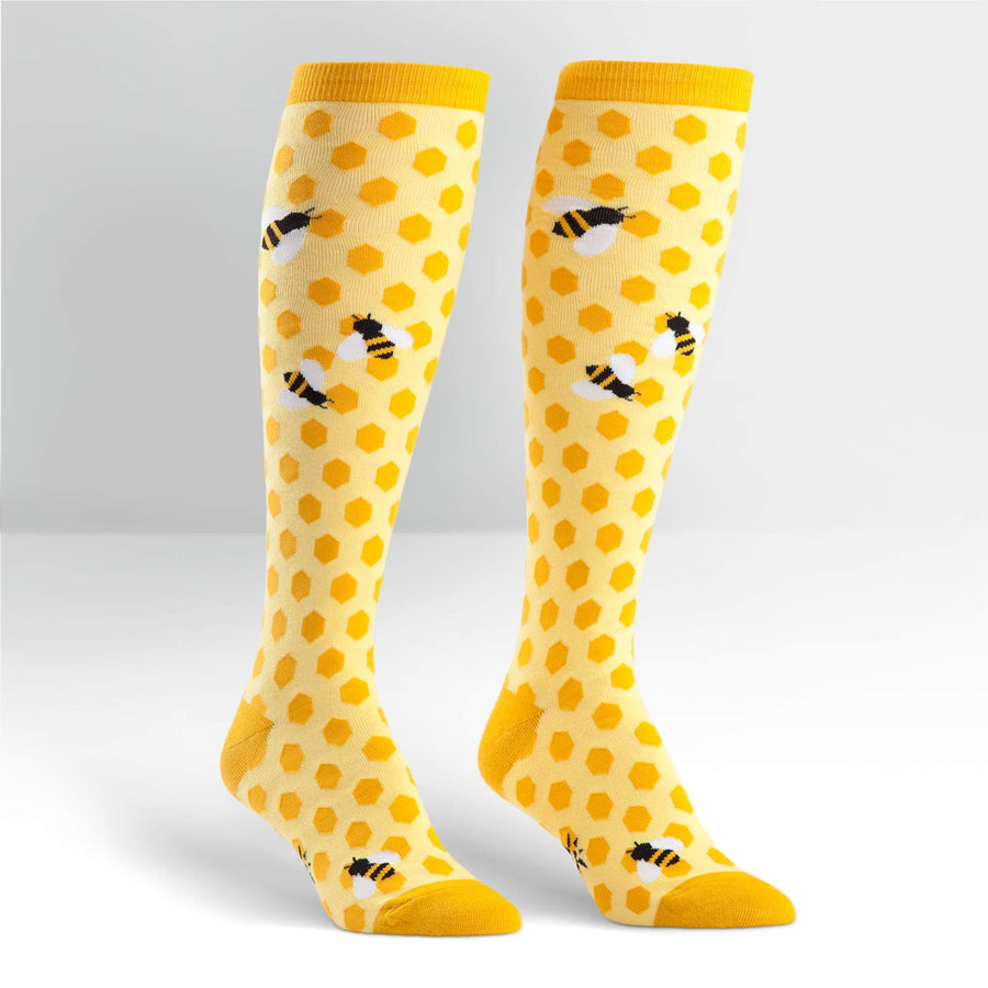 Sock it to me Knee High Funky: Bee's Knees
