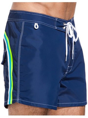 Sundek Mid-Length Navy Blue Board Shorts