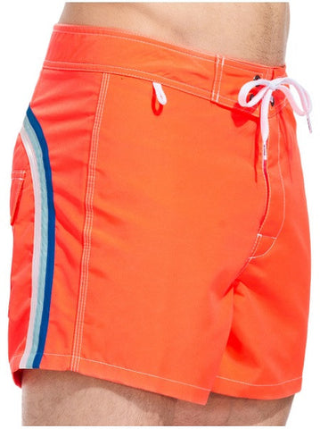 Sundek Mid-Length Neon Orange Board Shorts