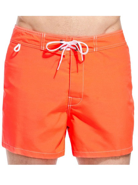 Sundek Mid-Length Neon Orange Board Shorts - shaymartian