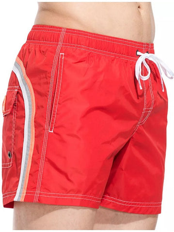 Sundek Mid-Length Fire Red Board Shorts
