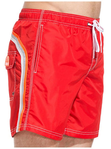 Sundek Long Fire Red Board Shorts