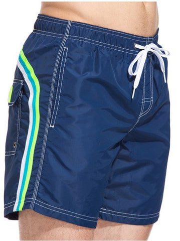 Sundek Long Navy Blue Board Shorts