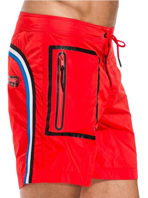 Sundek Long Fire Red Board Shorts - shaymartian