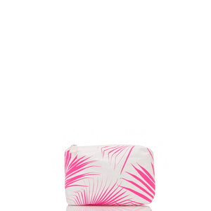 Mini Day Palms Pouch in Neon Pink - shaymartian