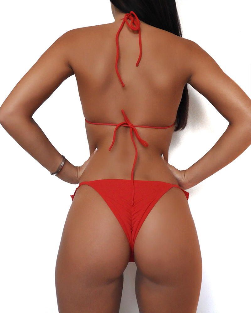 Mel Red Bikini Top - shaymartian