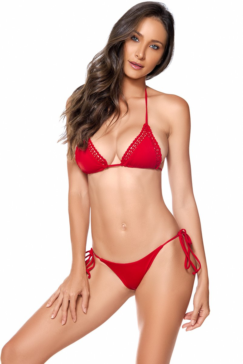 AYRA SWIM NOVA TOP RED - shaymartian