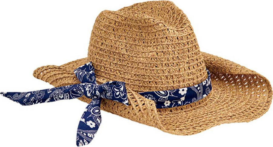 San Diego Women's Paper Cowboy with Bandana Print Band