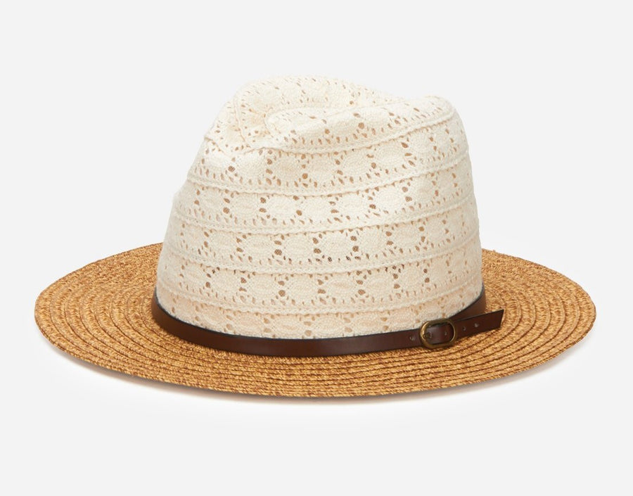 San Diego Women's Paper Braid Fedora with Faux Band