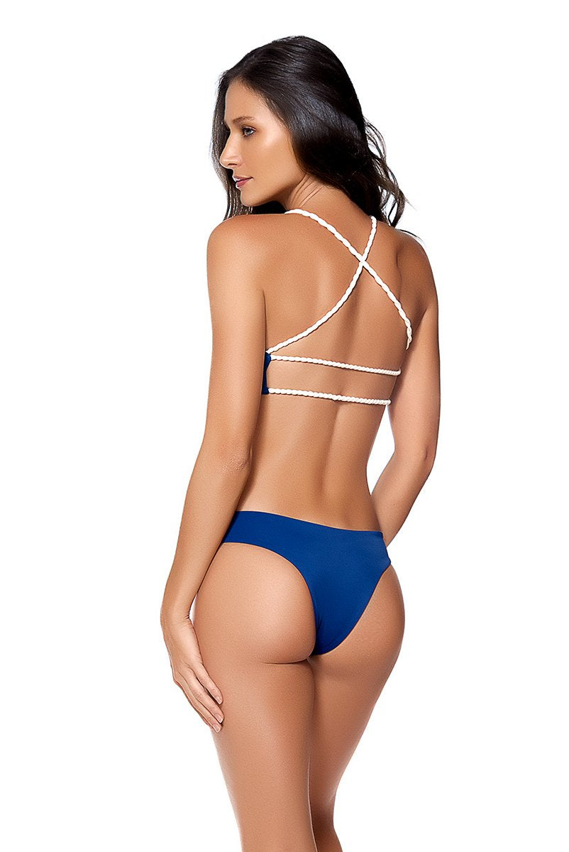 AYRA SWIM PANAMA TOP BLUE - shaymartian
