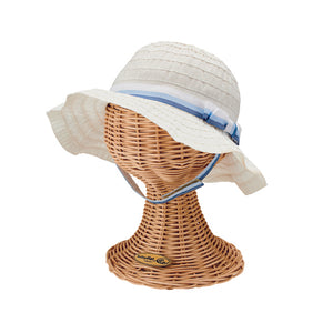 San Diego  Infant Ribbon Sun Hat with bow - shaymartian