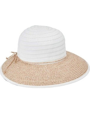 San Diego Women's Ribbon Crown and Raffia Brim - shaymartian
