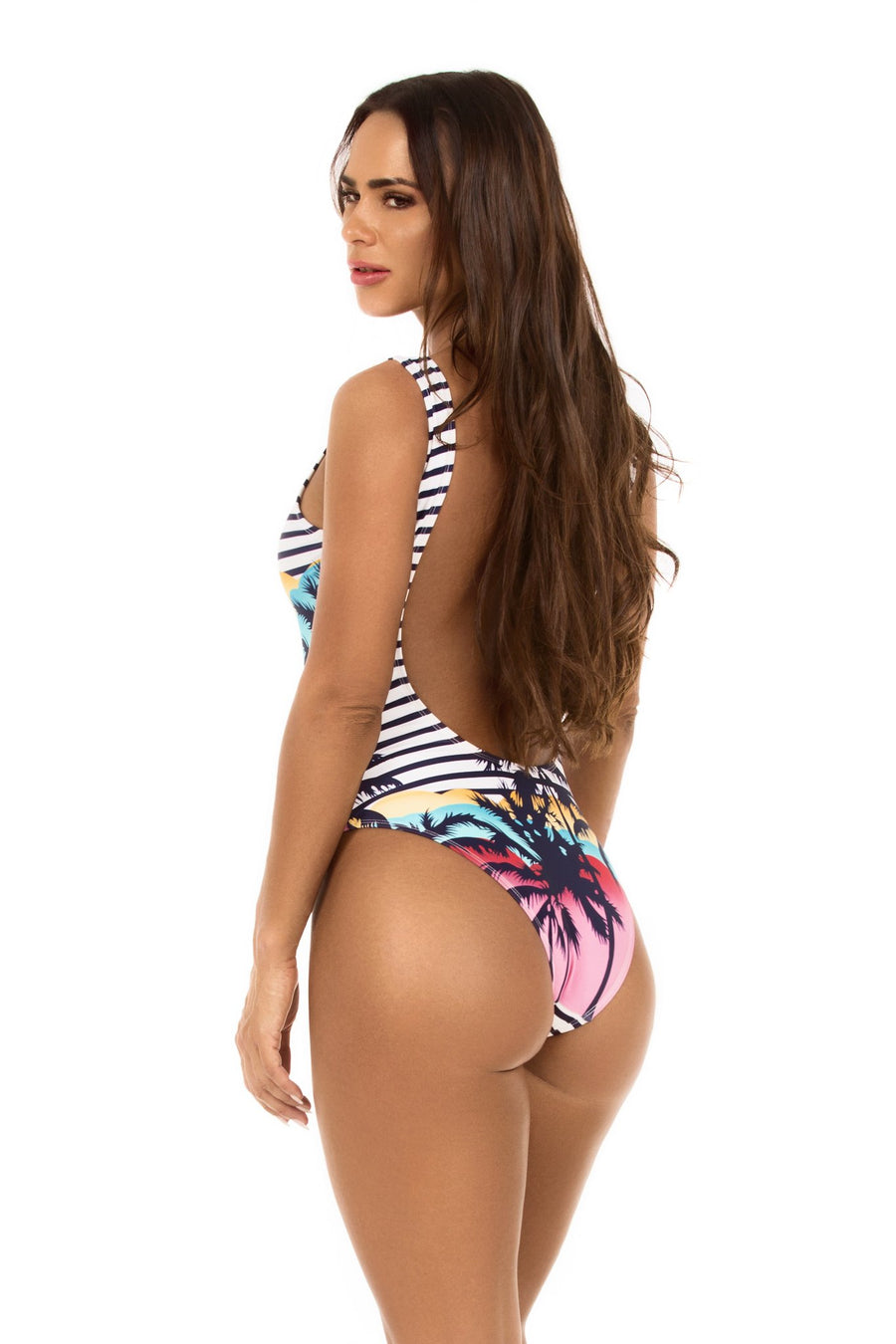 Mavele Sunset Palm One Piece - shaymartian