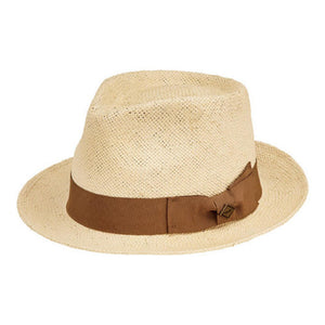 San Diego Men's Paper Fedora with Tacked Bow